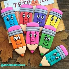 Colored Pencil Decorated Cookies