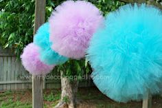 Tulle Pom Poms, how to make