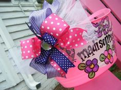 monogrammed and personalized easter bucket and by dillydAllie,
