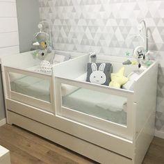 baby cribs Baby Nursery Twins Children 15 Super Id - Twin Baby Beds, Twin Baby Rooms, Twin Cribs, Baby Bedroom, Twin Babies, Twin Room, Bedroom For Twins, Baby Cribs For Twins, Twin Nurseries