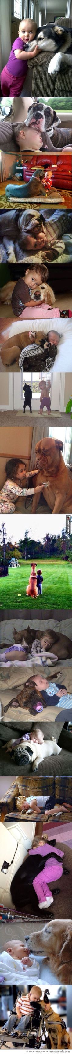 Kids and their dogs...too adorable!