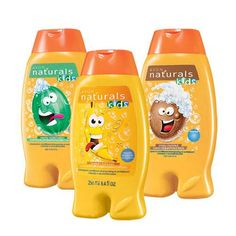 Naturals Kids Shampoo & Conditioner Make bath time playtime! Gentle hair care that kids can use every day! Tear-free formulas are dermatologist and ophthalmologist tested. Ages 3 and up. 8.4 fl. oz. Wet hair, apply shampoo and massage gently into scalp and hair. Lather and rinse.  #avonkids      #avonrep