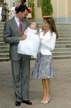 Letizia et Felipe avec  Leonor