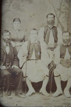 Nafplion, 1870-1880 Greek Traditional Dress, Traditional Outfits, Greek Costumes, Old Greek, Serbian, Greeks, Bulgarian, Folklore, Old Photos