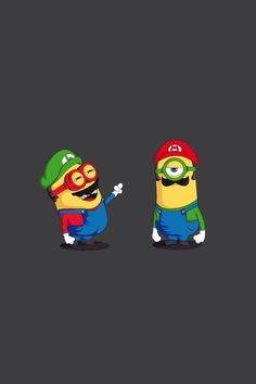 Mario & Luigi #Minions #iPhone #Wallpaper                                                                                                                                                                                 More
