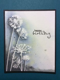 Wildflower shadows birthday by LCarter44 - Cards and Paper Crafts at Splitcoaststampers