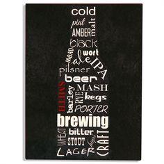 Trendy Aluminum Beer Bottle Bar Sign