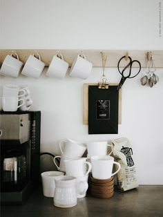 Scandinavian-Style Family Home Decorated With IKEA – Design. - - Scandinavian-Style Family Home Decorated With IKEA – Design. Coffee Station Kitchen, Home Coffee Stations, Ikea Design, Design Design, Chair Design, Ikea Interior, Kitchen Interior, Kitchen Decor, Kitchen Modern