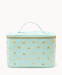 Metallic Triangle Print Cosmetic Bag  d0acce3d6d900