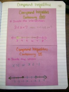 Math = Love: One Variable Inequalities INB Pages (Algebra 1)