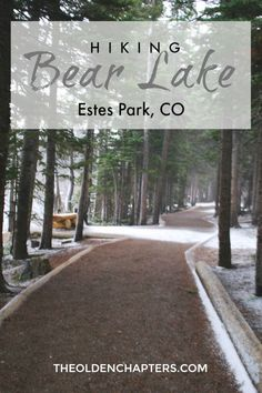 Quick and easy hike around a beautiful Rocky Mountain lake near Estes Park, CO. Pin for later