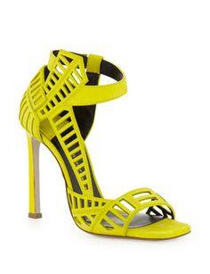 DANIELE MICHETTI Square-Toe Cutout Sandal