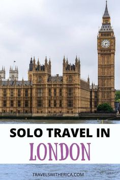 Are you planning a solo trip to London? Click through to learn my top tips and tricks on how to plan and execute an amazing solo trip to London! This post helps you plan where to stay in London, what to see and do, where to eat, how to save money, and safety tips. This is the ultimate must-read guide for anybody and everybody who is planning to visit London alone. You're guaranteed to have an amazing solo trip to London if you follow the tips in this guide! via @Travels with Erica Europe Travel Guide, Travel Guides, Travel Destinations, European Vacation, European Travel, Solo Travel, Travel Usa, Solo Trip, Things To Do In London