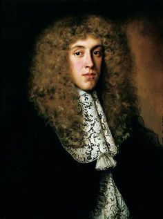 """""""Portrait of a Gentleman with a Lace Collar"""" by Jacob Ferdinand Voet (c.1639 – c. 1689/1700) a Flemish born artist who worked at the French court.:"""