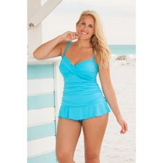 Always For Me's sexy Isabella Tankini Set, as seen in PLUS Model Magazine and Seventeen Magazine! Own this super hot plus size style, now available in size 12W in Denim and Black! Since 2001 customers have raved about our impeccable QUALITY, garment construction, long-lasting fabrics and attention to detail. Always for Me: Swimwear Your Curves Deserve!