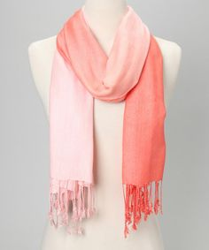 Take a look at this Pink & Peach Ombré Scarf by In Things on #zulily today!