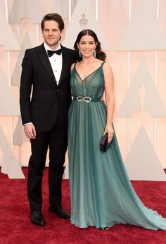 America Ferrera with husband Ryan Williams at the 87th Annual Academy Awards in February 2015...