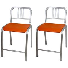 Pair of Bar Stools Designed by Ettore Sottsass 1