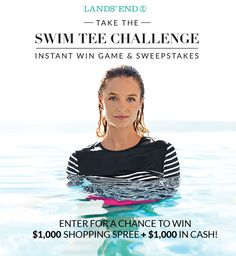 Play every day for a chance to win a $25 or $50 Lands' End eGift Card. Plus, you'll be entered in the grand prize drawing for a $1000 shopping spree and $1000 in cash!