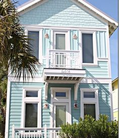 ~ pretty aqua beach cottage