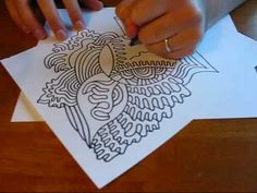 Here's a great example of the work of dailydoodles on YouTube. Doodle 9/24/09 (1:40)