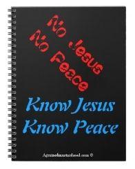 no Jesus no peace know Jesus know peace 80 page (b) bible study notebook