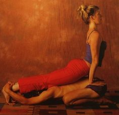 The child cobra partner yoga pose - amazing for the hips! learn more at www.sevanibeauty.com /blog