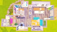 Bea's Studio All-in-one Bea Slade's all-in-one studio room (does not include bathroom). This was requested, so here you go! kitchen, living room, bedroom and study nook. Sims 4 Mods, Sims 3, Sims 4 Ps4, Sims Four, Sims 4 House Plans, Sims 4 House Building, Sims 4 House Design, Sims Free Play, Casas The Sims 4