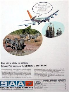 SAA 60's print advert Aviation, African, Day, Movie Posters, South Africa, Film Poster, Air Ride, Popcorn Posters, Film Posters