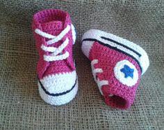 CONVERSE PATTERN All Star Baby crochet van uncinettocrochet op Etsy
