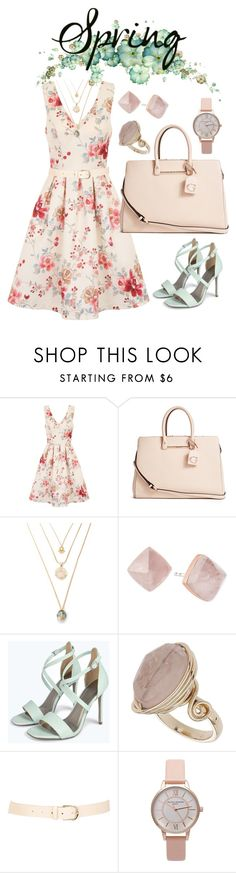 """""""Pastel Spring"""" by orangehairgel ❤ liked on Polyvore featuring Chi Chi, GUESS, Michael Kors, Boohoo, Topshop and Maison Boinet"""
