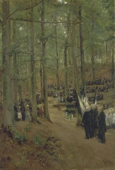 Max Liebermann - Memorial Service for Emperor Frederick at Kösen 1888