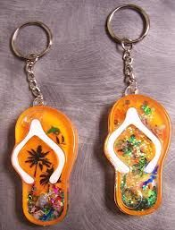 Personalized Flip Flop Key Ring
