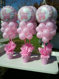 Baby Shower Ideas For Girls On A Budget   Bing Images Balloons Like A  Flower Pot