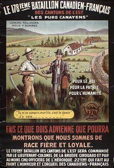 Le 178e Bataillon canadien-français des Cantons de l'Est :  Campagne de recrutement. (BAC, Mikan 2897701, Crédit: Bibliothèque et Archives Canada, no d'acc 1983-28-779,  Droit d'auteur: perimé)