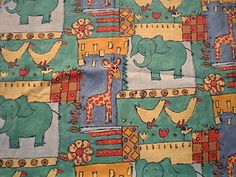 French Cotton Fabric Simplicity Kids Interiors Childrens Animals | eBay