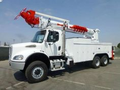 USED 2004 FREIGHTLINER M2 6X6 ALTEC D2050TR DIGGER DERRICK #truck #equipmentready