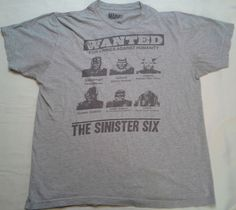 Marvel Comics Wanted Poster Sinister Six T Shirt Small Octopus Green Goblin  D32  fashion   7ffbe8eee