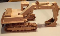Model Excavator made from all hardwood.  Ideal to use as a display model