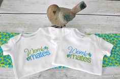 Womb Mates Bodysuit/Infant Creeper for Twins and Triplets - pinned by pin4etsy.com