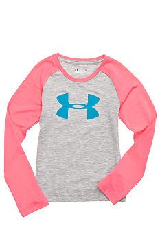 Under Armour® Logo Raglan Tee Toddler Girls...this is CUTE!  I'd wear it if it came in women's sizes