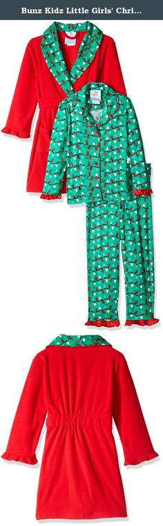 4445f7fbb1 Bunz Kidz Little Girls  Christmas Lights Robe and Pajama Set