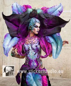 Corporal realizado por Alejandra Ortiz, maestra de la escuela de maquillaje Stick Art Studio