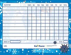 Kids Behavior Charts | Seasons Theme| Kid Pointz