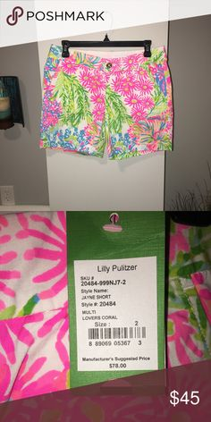 Lilly Pulitzer Lovers Coral Jayne Short NWT, Size 2, smoke and pet free home! Open to reasonable offers 😊 Lilly Pulitzer Shorts