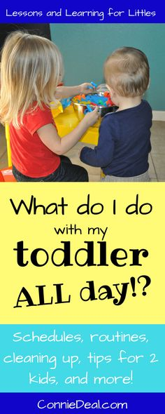Toddler routines and...