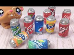 How to make LPS & Doll mini Soda cans: Coca Cola etc - YouTube