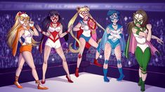 LUCHA SCOUTS Lucha Venus, Lucha Mars, Lucha Moon, Lucha Mercury and Lucha Jupiter, ready to give you the punishment you deserve! A Sailor Moon fanart mixed with some lucha libre action - January 2017 - Miah Grimm - FACEBOOK - TWITTER - YOUTUBE -...