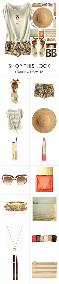 """""""Marine Layer:Striped Shirts"""" by grozdana-v ❤ liked on Polyvore featuring BCBGMAXAZRIA, Flora Bella, Kevyn Aucoin, Estée Lauder, Dolce&Gabbana, Michael Kors, Kate Spade, Pottery Barn, NYX and Tom Ford"""