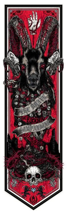 Cool Art: 'Game Of Thrones' Banners Series 2 Wave 1 Prints by Rhys Cooper - brave companions bloody mummers Twilight Princess, Art Game Of Thrones, Dark Fantasy, Fantasy Art, Rhys Cooper, Illustrations, Illustration Art, Goat Art, Horror